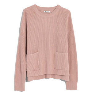 Madewell Patch Pocket Pullover Sweater, Size XXS